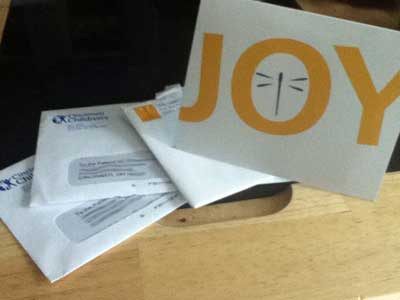 Joy Card in the Mail