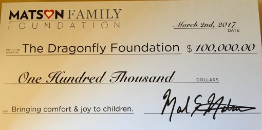 $100,000 Donation from Matson Family Foundation
