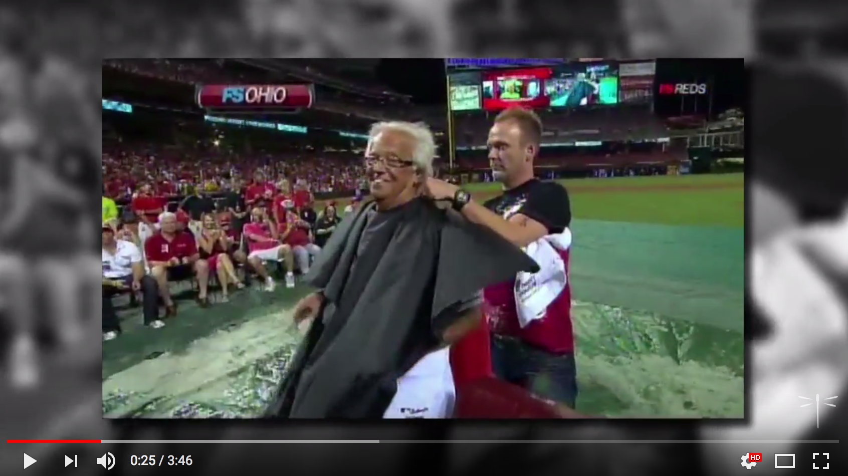 Screenshot of Forty Four Award Video with Marty Brennaman