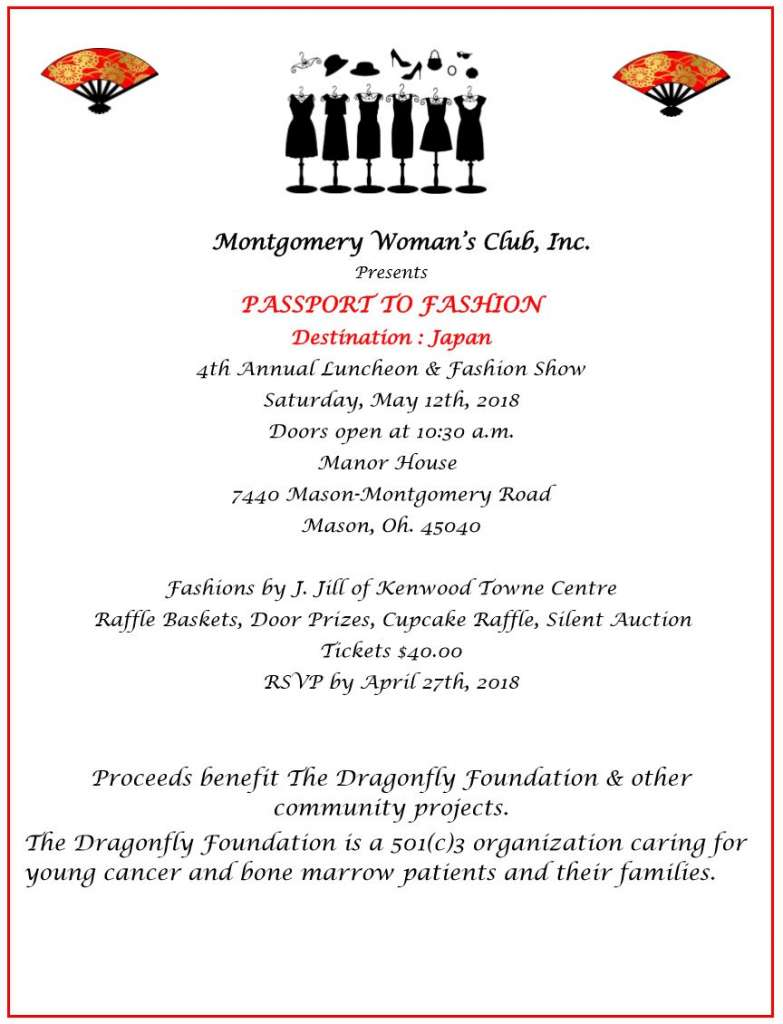 Montgomery Women's Club Passport to Fashion Invitation 2018