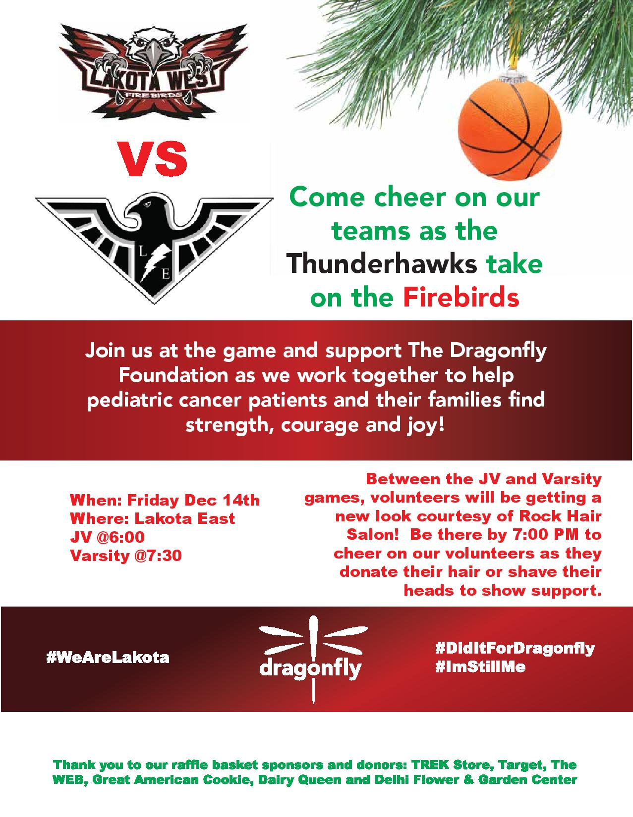 Holiday Hair Donations At Lakota East West Basketball Game The