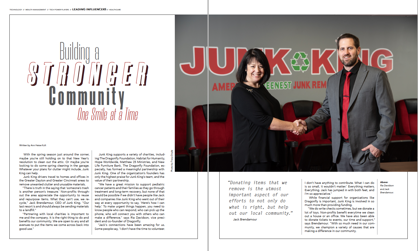 Junk King Article in Venue Magazine